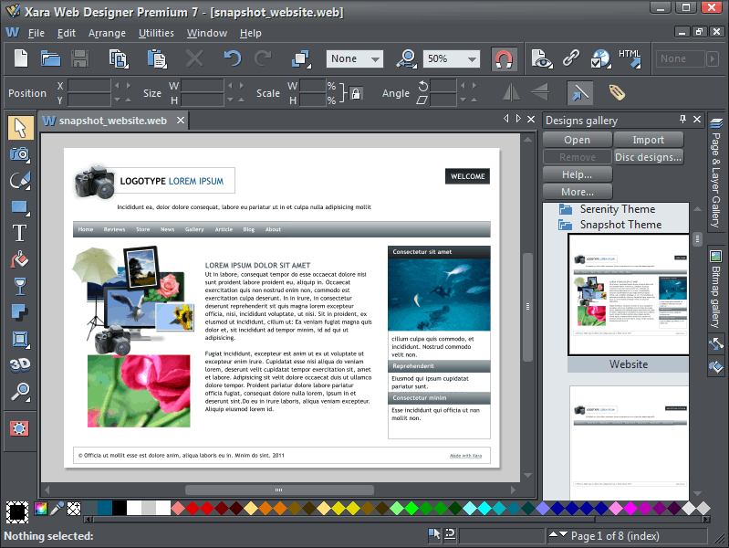 Biareview Com Xara Web Designer