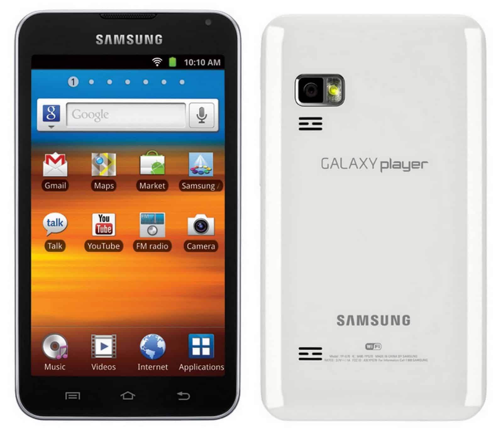 samsung galaxy player yp-g70 firmware update