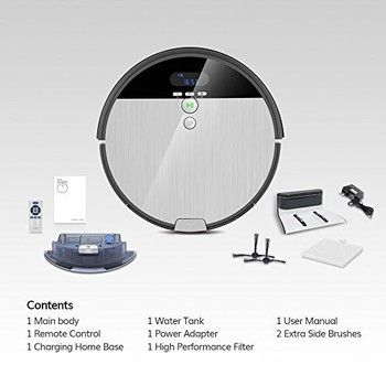Ilife V8S Robotic Vacuum Cleaner Saugroboter LCD Display Staubsaugroboter New!!