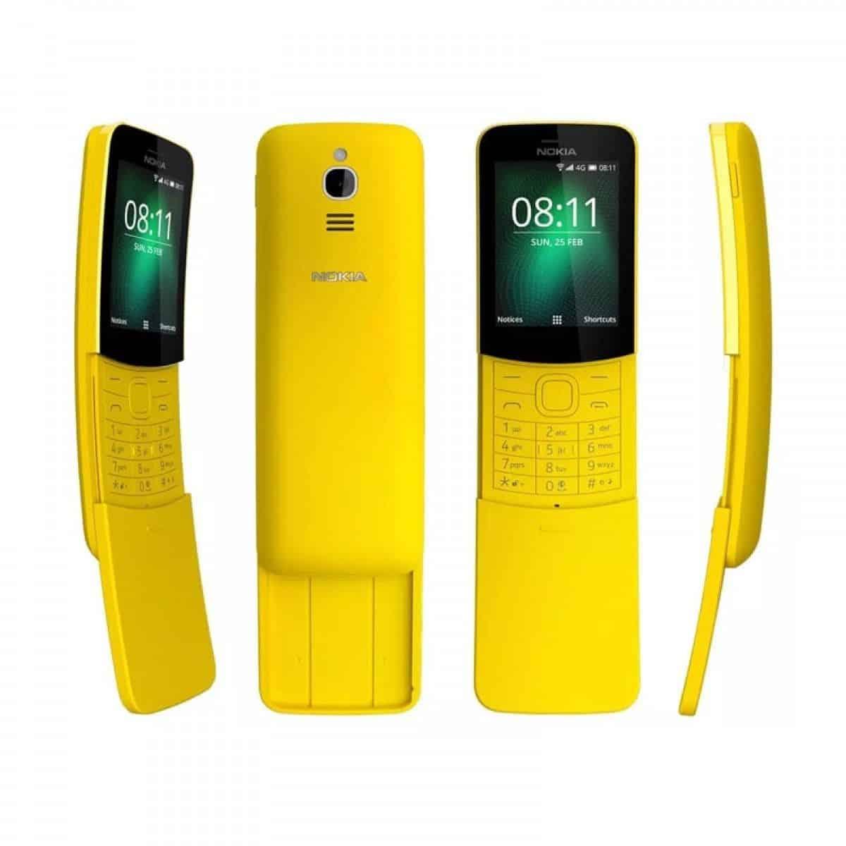International Version Nokia 8110 4G Single-SIM 4GB TA-1071 SS Factory Unlocked 4G Smartphone Black 2018