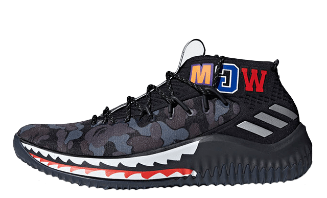 adidas dame 4 a bathing ape